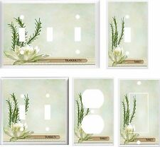 WATER LILY TRANQUILITY  LIGHT SWITCH COVER PLATE   HOME DECOR