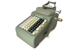 RC ALLEN No.56S ADDING MACHINE Antique Vtg Mechanical Calculator Hand Crank