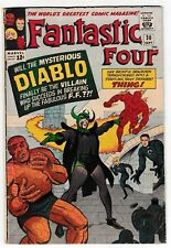 FANTASTIC FOUR #30 (VG-) 1st Appearance of DIABLO! Lee & Kirby! Marvel 1964