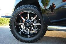 "MO970 17x9 Black Machined Wheels Rims MT Tires Package 8x6.5 33"" Dodge Ram Chevy"