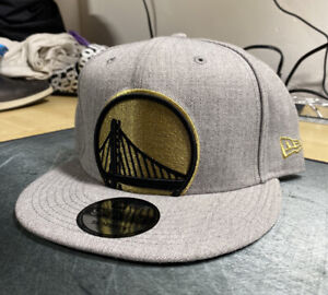 NWT Golden State Warriors 9Fifty New Era Adjustable Snapback Hat Grey/Gold Logo