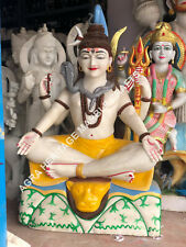 """36"""" Lord Shiva Marble Gift Sculpture Hand Painted Art Hinduism Decorative E1170"""