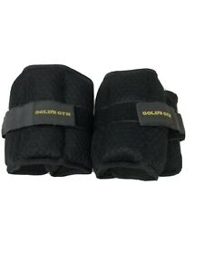 Golds Gym 5 LBS Pair Adjustable Ankle/Wrist weights. Hook and loop strap