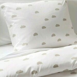 Duvet Cover Set PILLOWFORT Clouds Grey and White Full/Queen FREE SHIPPING