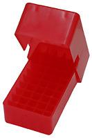 NEW! MTM 50 Round Slip-Top Handgun Ammo Box 38/357 Cal (Clear Red) E50-38-29