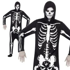 Halloween Mens Skeleton All in One Costume Suit Fancy Dress by Smiffys M