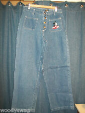 Mickey Limited Jeans Button fly Disney 100% Cotton Size 11 USA