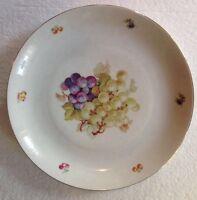 """Vintage Large 12"""" Fruit Platter Grapes Gold Rim Made In Germany"""