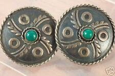 VINTAGE DAMASO GALLEGOS TAXCO MEXICO SILVER EARRINGS