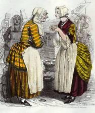 FABLE DE LA FONTAINE Les femmes et le secret commérages, Illustré par Grandville