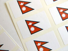Mini Sticker Pack, Self-Adhesive Nepal Flag Labels, FR194