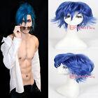 KILL la KILL Mikisugi Aikuro Short Blue Wavy Cosplay Wig Halloween Party Wigs