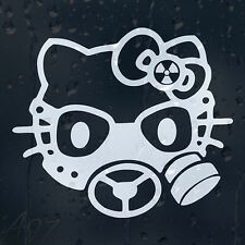 Hello Kitty Gas Mask Car Window Body Panel Laptop Phone Decal  Vinyl Sticker