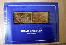 Staffa Scotland Gold Foil Road Runner New Mexico Stamps