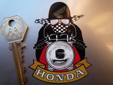 HONDA Cafe Racer Helmet or Bike STICKER Pudding Basin Classic Motorcycle CB750