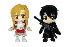 NEW AUTHENTIC SET OF 2 SWORD ART ONLINE SAO STUFFED PLUSH DOLL - ASUNA / KIRITO