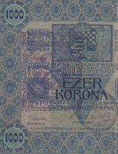 Austria 1000 KRONEN  1902 +  hanstamp CITTA DI FIUME - Consiglio Nazionale- RARE
