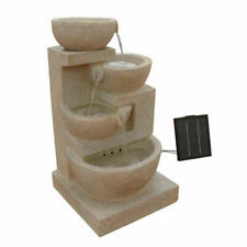 Gardeon 4 Tier Solar Powered LED Fountain - Sand (FOUNT-BOWL-SAND)