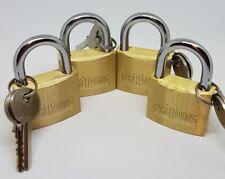 Padlock set of 4 with 2 keys each, 1 key fits all