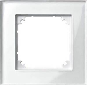 Merten 1 Fach Rahmen M-Plan Echtglasrahmen  489119 Brillantweiß