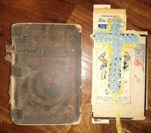 """Family Bible, several pages of """"Wolters"""" family genealogy, and additional papers"""