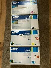 Samsung Genuine Original Black Cyan Magenta Yellow C4092 K4092 Y4092 M4092