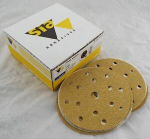"""SIA Abrasives Sanding Discs 6"""" 150mm P120 Grit Pack of 50 Orbital Hook Loop"""