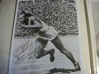 Jesse Owens autographed photo  with COA