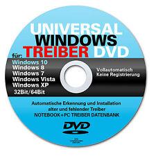 Universal Treiber DVD für alle PC  Notebook  Laptop mit Win 7  8  8.1  10