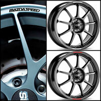 Mazda MAZDASPEED Rims Alloy Wheels Curved Decal Stickers Graphics for All Models