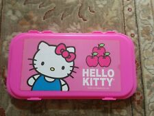 Vintage 2012 Hello Kitty Sanrio Large Pink Pencil Case Art Tray Organizer Cool