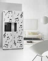 Large Music Notes Fridge Kitchen Sticker Waterproof Refrigerator Wall Sticker UK