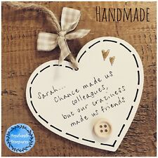 Leaving Gift Colleague Plaque Work Friend Retirement Thank Chance Made Thank You