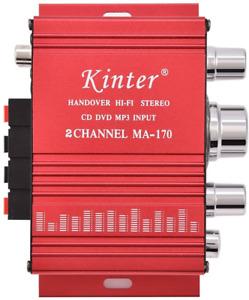 Mini 12V 2 Channel HiFi Stereo Bass Audio Power Amplifier 20W + 20W Digital Amp
