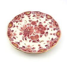 Regina Delft Plate Red Floral Hand Painted Signed Hendrik Meilof Original Label