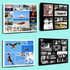 Fantastic Personalised Photo Collage Printed on to a framed canvas ready to hang