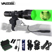 400Yard LED Green Hunting Light Predator Hog Night Flashlight Air Rail Gun Torch