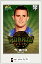 2011 Select NRL Champions Trading Cards Rookie 2010 R7 Tim Browne (Bulldogs)