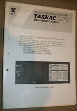 Yaskawa / Yasnac LX3 CNC System Maintenance Manual, TOE-C843-9.25B