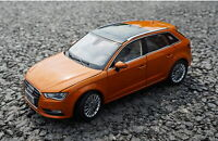 1/18 Scale Audi A3 Sportback Orange DieCast Car Model Toy Collection Gift