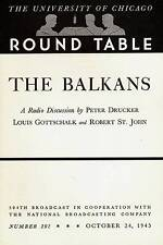 UNIVERSITY OF CHICAGO ROUND TABLE 1943 THE BALKANS