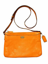 COACH MADISON LEATHER MANDARIN E W SWINGPACK CROSSBODY PURSE SLIM GOLD 49992 HTF