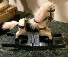 Antq. Folk Art Hand sculptured & Painted, Wood Carousel toy Rocking Horse