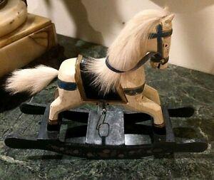 Antq. Folk Art Hand sculptured & Painted, Wood Carousel toy Rocking Horse