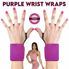Purple Gym Wrist Wraps Training Weight Lifting Ladies Gym Straps Support Grip