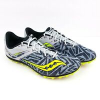 Saucony Havok Xc Mens  Size 13 Black Grey Green No Spikes Track Cleats