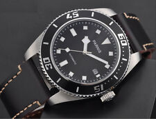 Parnis 43mm mechanical steel MIYOTA automatic sapphire Mens Bezel Watch 1232