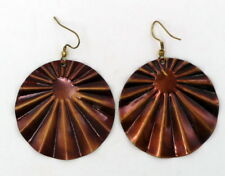 Fair trade bronze tone earrings handmade in India