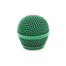 Replacement Green Steel Mesh Microphone Grill Head - Fits Shure SM58 and Similar