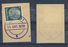 Aussig Briefstück mit aptiertem BF-Stempel 31. Okt. 1938 (436059)
